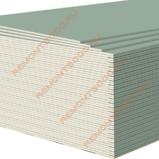 ГИПРОК Аква Лайт гипсокартон влагостойкий 2500х1200х9,5мм (3,0м2) / GYPROC Аква Лайт ГКЛВ гипсокартонный лист влагостойкий 2500х1200х9,5мм (3,0 кв.м.) Гипрок
