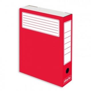 Короб архивный красный ATTACHE (гофрокартон), 5 шт./уп.