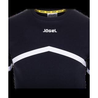 Футболка тренировочная Jögel Jct-1040-061, хлопок, черный/белый размер L