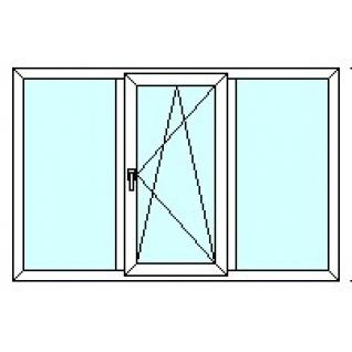 TEPLOWIN Трехстворчатое окно Тепловин Эстетик 400 с одной створкой