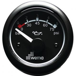Wema Индикатор давления масла чёрный Wema IORP-BB-0-5 12/24 В 0 - 5 бар
