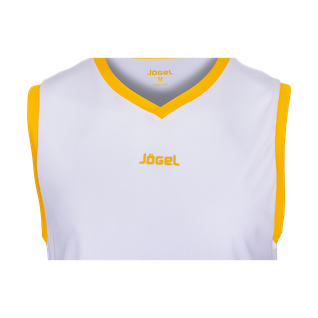 Майка баскетбольная Jögel Jbt-1020-014, белый/желтый, детская размер YXS
