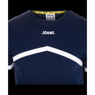 Футболка тренировочная детская Jögel Jct-1040-091, хлопок, темно-синий/белый, детская размер XS