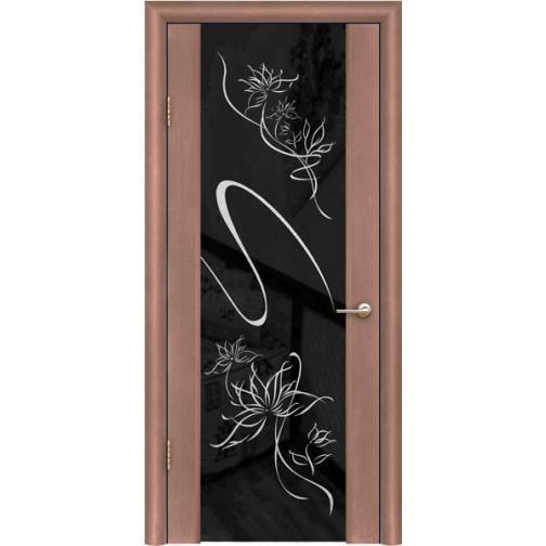 Дверь ульяновская шпонированная Альмека со стеклом триплекс 49378 1