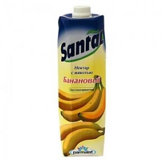 Сок Santal банановый 1 л. т/пак. шт.