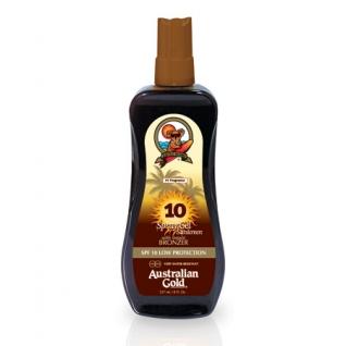 SPF 10 Spray Gel with bronzer - Водостойкий спрей-гель низкой степени защиты от УВ-излучения с бронзатором Australian Gold