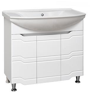 Тумба для ванной Runo Стиль 75 без Раковины (Стиль 75) Белая