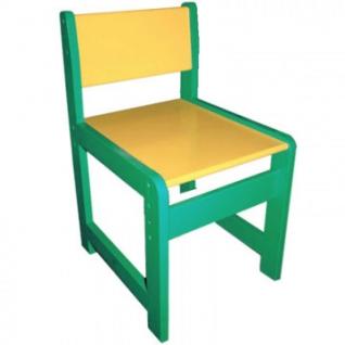 Детская мебель Д_Стул детский 998.001 регулируемый 0-1 зеленый/желтый