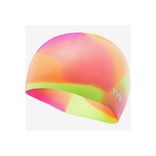 Шапочка для плавания Tyr Tie Dye Junior Swim Cap, силикон, Lcsjrtd/173, оранжевый