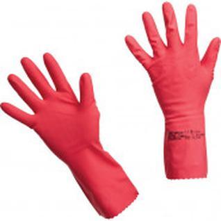 Перчатки резиновые Vileda Profes латекс хлопков.напыл красный р-р L 100751