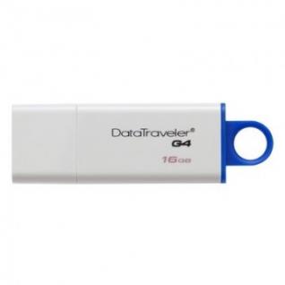 Флеш-память Kingston DataTraveler I G4, 16Gb, USB 3.0, белый, DTIG4/16GB