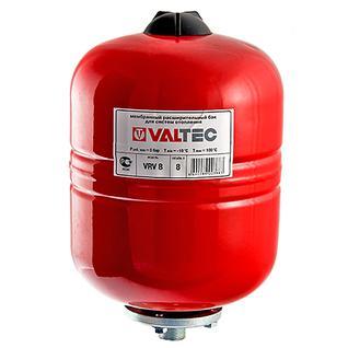 Бак расширительный Valtec для отопления 8литров КРАСНЫЙ
