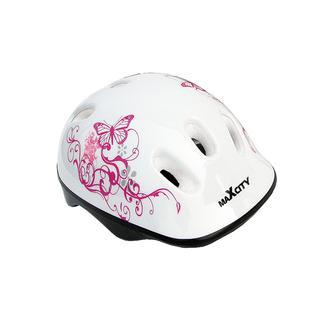 Ролик. шлем Maxcity Baby Caribo Girl, белый (s)