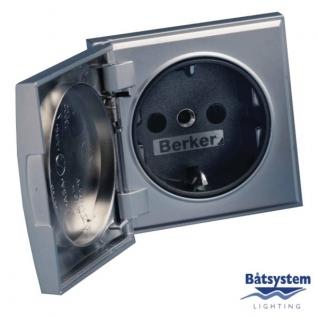 Batsystem Розетка сетевая Batsystem Berker BE5860MS 230 В серебристая