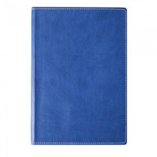 Бизнес-тетрадь Attache Клэр А5, 120л, клетка,кожзам, синяя 11.02 37849968 1