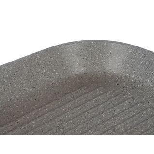 Сковорода-гриль ПМ: Интер Сковорода -гриль квадратный, Casta Мрамор 26х26 см, Крышка
