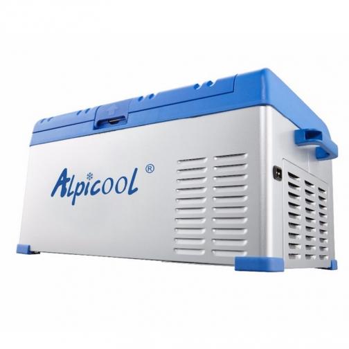 Kомпрессорный автохолодильник ALPICOOL ABS-25 синий (30л, 12/24/220В) 36971684