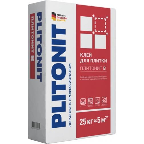 ПЛИТОНИТ В клей плиточный (25кг) / PLITONIT B клей для плитки и керамогранита (25кг) Плитонит 36984032