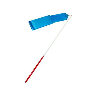 Лента для художественной гимнастики Amely Agr-201 6м, с палочкой 56 см, голубой