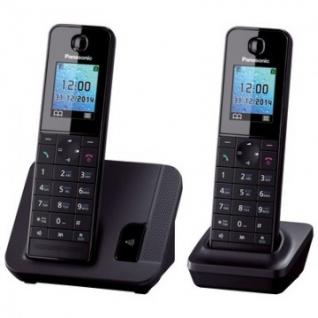 Радиотелефон PANASONIC KX-TGH212RU чёрный,АОН, цвет.дисплей , две трубки