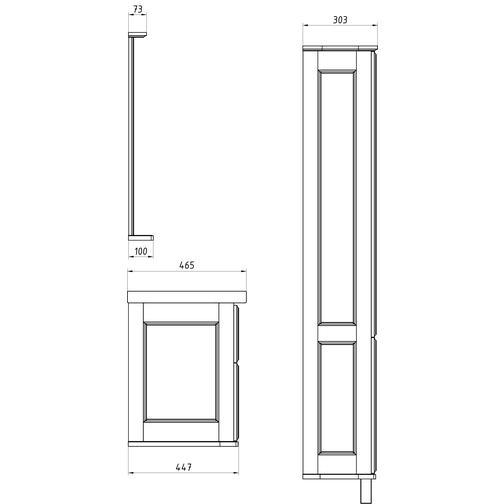 Подстолье Прато 100 (Белый/Патина серебро) ASB-Woodline 38117065 4