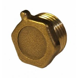 Заглушка латунная (колпак) Ду-32 внутр. резьба под пломбу (1005) ВЛМЗ
