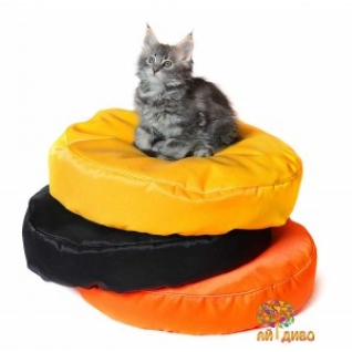 Лежанка для кошек и собак круглая, Зима-лето