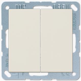 Выключатель Jung LS серия (505U-LS995) двухклавишный 10А слоновая кость пластик