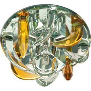 Светильник потолочный, JC G4 с желтым и прозрачным стеклом, зеркальный, с лампой, CD2531 Feron
