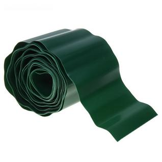 Лента бордюрная, 0.2 х 9 м, толщина 0.7 мм, гофра, коричневая