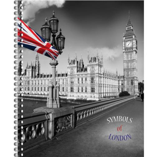 Тетрадь общая 80 л. кл. А4 формат London греб. арт. ТО80А49375 37874424 5