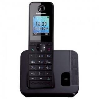 Радиотелефон PANASONIC KX-TGH210RU чёрный,АОН, цвет.дисплей