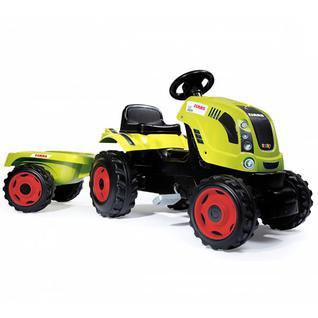 Детские веломобили Smoby Smoby 710114 Трактор педальный XL с прицепом, CLAAS