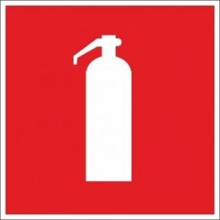 Знак безопасности F04 Огнетушитель (пластик, 200х200)