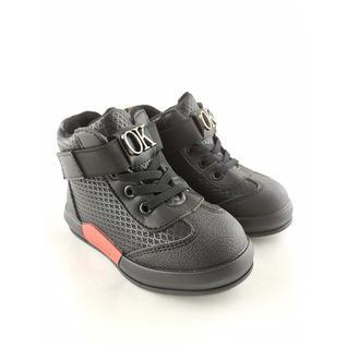 N3415-2 ботинки для мальчика черный Мышонок 22-27 (22)
