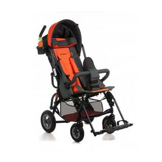 АРМЕД Кресло-коляска для детей-инвалидов и детей с заболеванием ДЦП, вариант исполнения VCG0C, с принадлежностями (пневмо, розовый-серый)