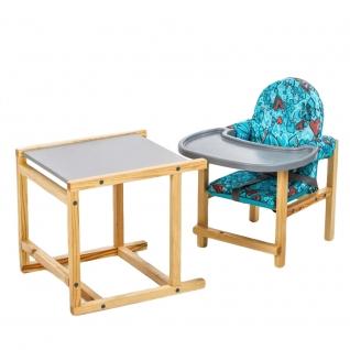 Стул-стол для кормления СТД 07 бирюза+серый