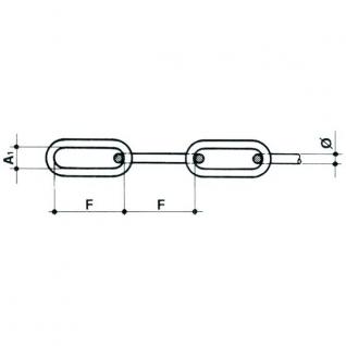 Maritim Цепь с длинными звеньями 4 мм 1 м DIN763 8301404