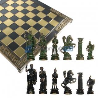 "Шахматы с тематическими фигурами ""Древний мир"", темные фигуры"