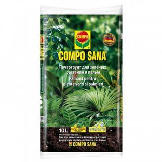 Грунт для зеленых растений и пальм 10 л COMPO SANA 1143108066