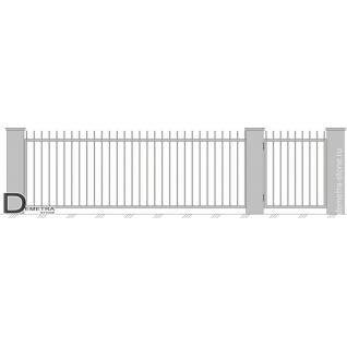 Кованые ворота В-001 (2м x 3.5м)