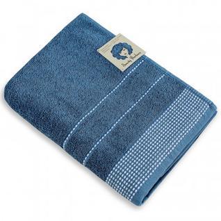 Набор махровых полотенец С. Барбара 50х90 1шт 70х130 1ш пакет, жемч-голубой