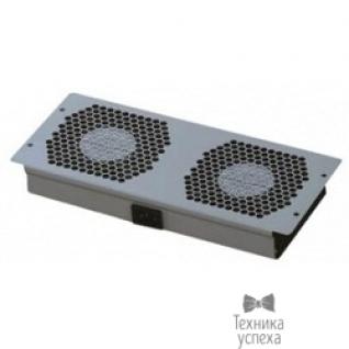 Hyperline Hyperline TFAT-T2FM-RAL9004 Модуль вентиляторный потолочный с 2-мя вентиляторами для установки в напольные шкафы серии TTC2, цвет черный (RAL 9004SN)
