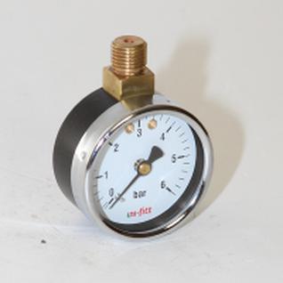 Манометр 50х1/4 6 бар для редуктора давления (верхнее радиальное подключение) UNI-FITT