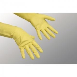 Перчатки хозяйственные латексные Контракт Vileda, желтый, L, 101018