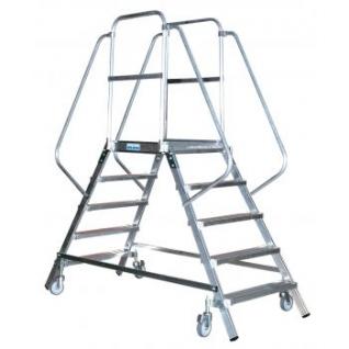 Лестница-платформа STABILO двухсторонняя с 4-мя алюм. ступеньками