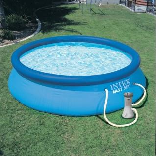 Надувной бассейн с фильтром-насосом Intex