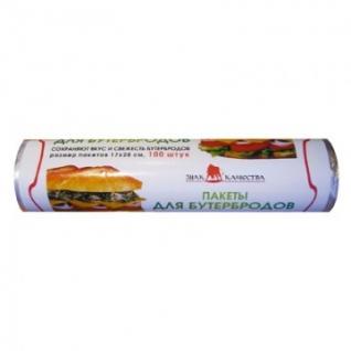 Пакет фасовочный ПНД 17х28см 100шт./уп.д/бутербродов