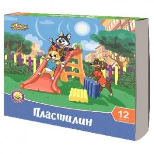 Пластилин №1 School Шустрики 12цв 240г