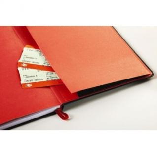 Блокнот OXFORD BLACK?n?RED А5 72л фикс.резинка, карман, тв.обл. 400033673